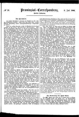 Provinzial-Correspondenz vom 06.07.1864
