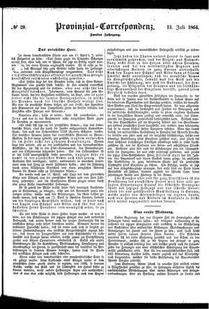 Provinzial-Correspondenz on Jul 13, 1864