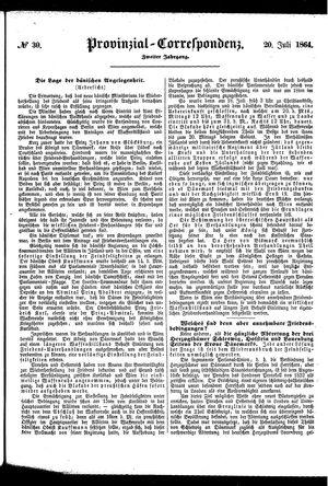 Provinzial-Correspondenz vom 20.07.1864