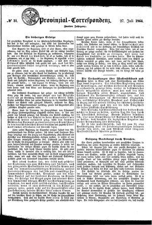 Provinzial-Correspondenz vom 27.07.1864