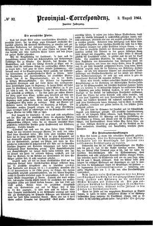 Provinzial-Correspondenz vom 03.08.1864