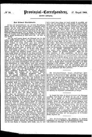 Provinzial-Correspondenz vom 17.08.1864