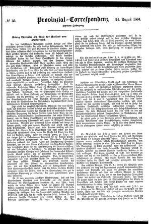 Provinzial-Correspondenz vom 24.08.1864
