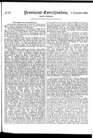 Provinzial-Correspondenz vom 07.09.1864