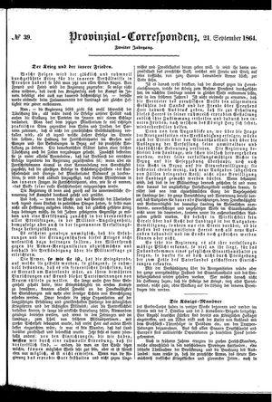 Provinzial-Correspondenz on Sep 21, 1864