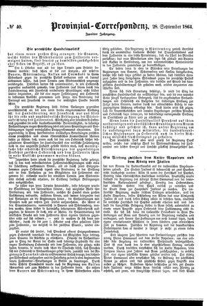 Provinzial-Correspondenz vom 28.09.1864