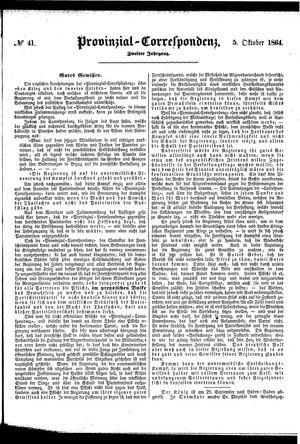 Provinzial-Correspondenz vom 05.10.1864