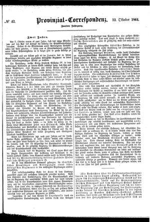 Provinzial-Correspondenz vom 12.10.1864