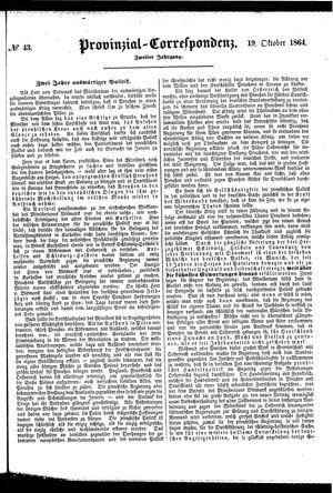 Provinzial-Correspondenz vom 19.10.1864