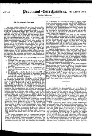 Provinzial-Correspondenz vom 26.10.1864