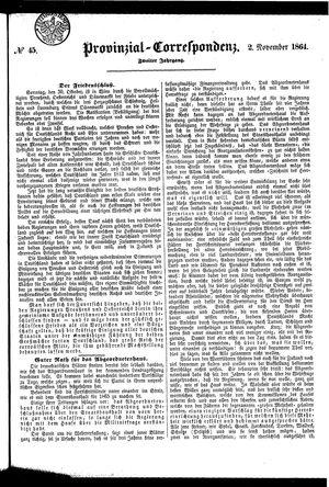 Provinzial-Correspondenz vom 02.11.1864