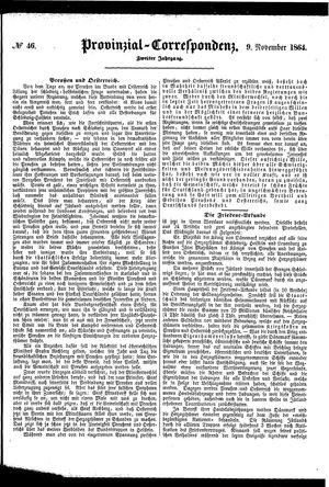 Provinzial-Correspondenz vom 09.11.1864