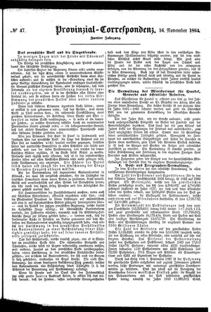 Provinzial-Correspondenz vom 16.11.1864