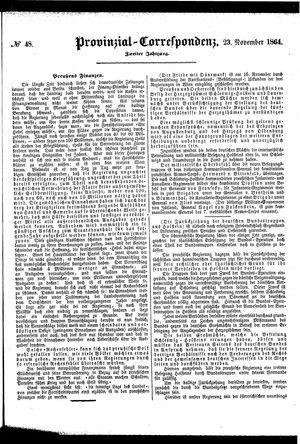 Provinzial-Correspondenz vom 23.11.1864