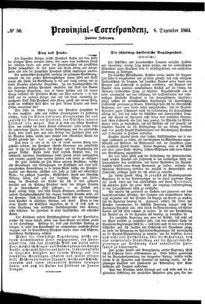 Provinzial-Correspondenz vom 08.12.1864
