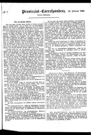 Provinzial-Correspondenz vom 15.02.1865