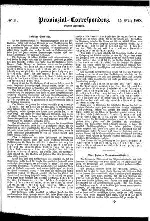 Provinzial-Correspondenz vom 15.03.1865