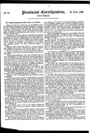 Provinzial-Correspondenz vom 29.03.1865