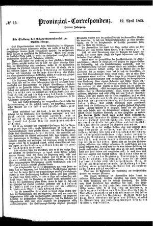 Provinzial-Correspondenz vom 12.04.1865
