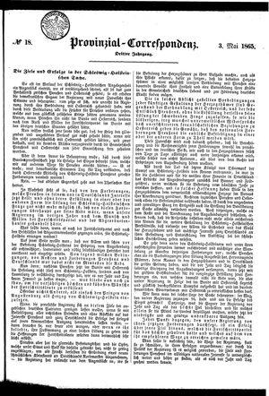 Provinzial-Correspondenz vom 03.05.1865