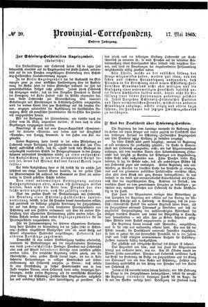 Provinzial-Correspondenz vom 17.05.1865