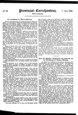 Provinzial-Correspondenz vom 07.06.1865