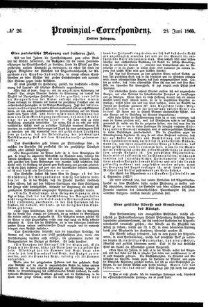 Provinzial-Correspondenz vom 28.06.1865
