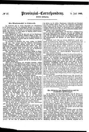 Provinzial-Correspondenz on Jul 5, 1865