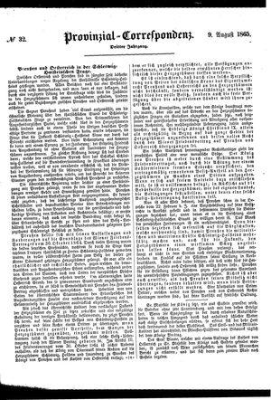 Provinzial-Correspondenz vom 09.08.1865