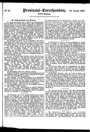 Provinzial-Correspondenz on Aug 23, 1865