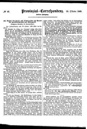 Provinzial-Correspondenz on Oct 25, 1865