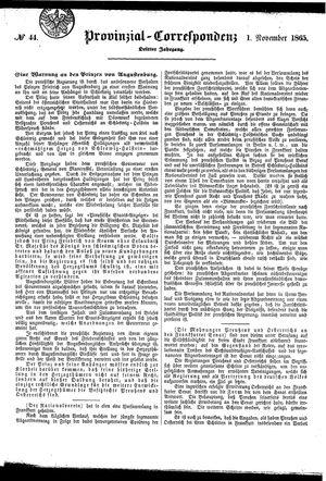 Provinzial-Correspondenz vom 01.11.1865