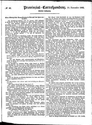 Provinzial-Correspondenz on Nov 15, 1865