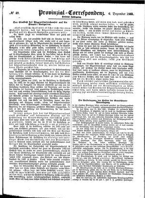 Provinzial-Correspondenz vom 06.12.1865