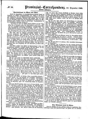 Provinzial-Correspondenz vom 13.12.1865
