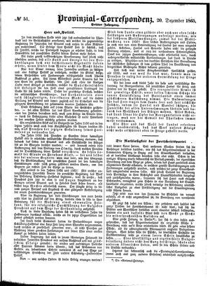 Provinzial-Correspondenz vom 20.12.1865