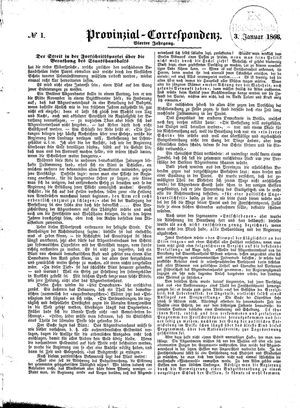 Provinzial-Correspondenz vom 03.01.1866