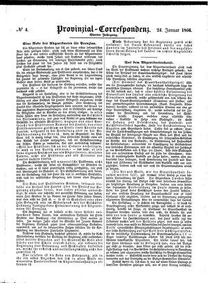 Provinzial-Correspondenz vom 24.01.1866