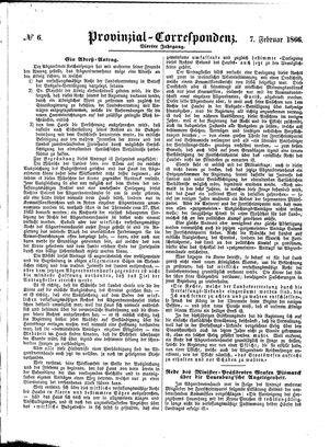 Provinzial-Correspondenz on Feb 7, 1866