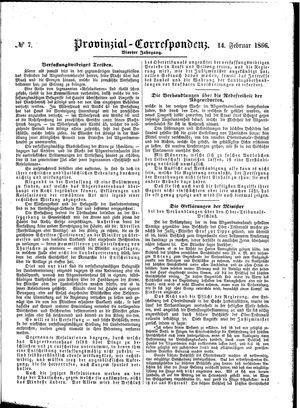 Provinzial-Correspondenz vom 14.02.1866