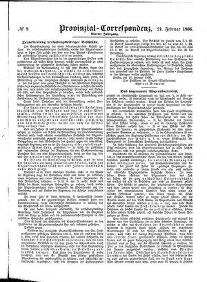 Provinzial-Correspondenz on Feb 21, 1866