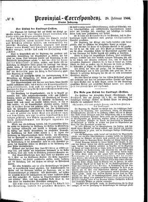 Provinzial-Correspondenz vom 28.02.1866