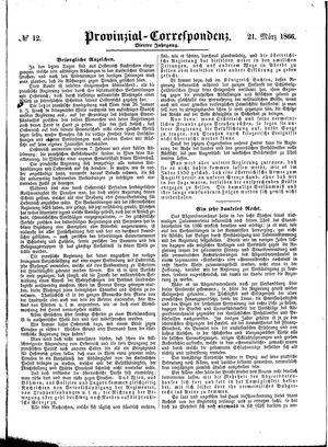Provinzial-Correspondenz vom 21.03.1866