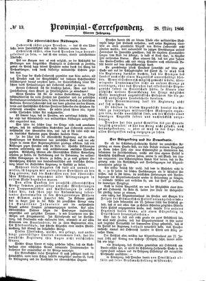 Provinzial-Correspondenz on Mar 28, 1866