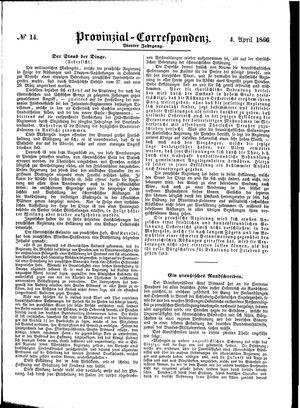 Provinzial-Correspondenz on Apr 4, 1866