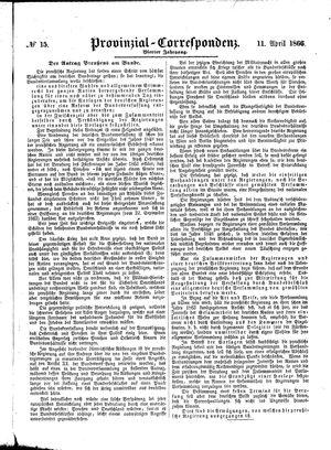 Provinzial-Correspondenz vom 11.04.1866