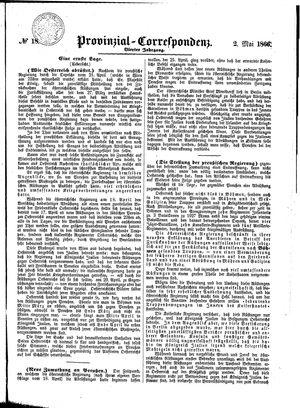 Provinzial-Correspondenz vom 02.05.1866