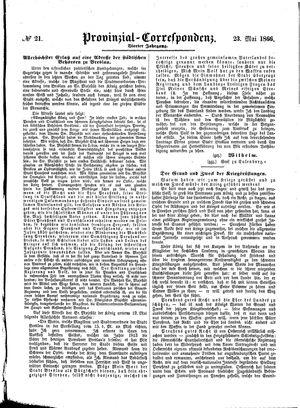 Provinzial-Correspondenz vom 23.05.1866