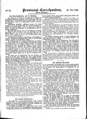 Provinzial-Correspondenz vom 30.05.1866
