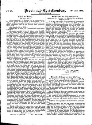 Provinzial-Correspondenz vom 20.06.1866